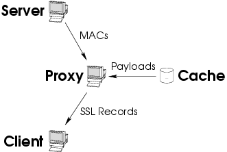 SSL splitting: securely serving data from untrusted caches